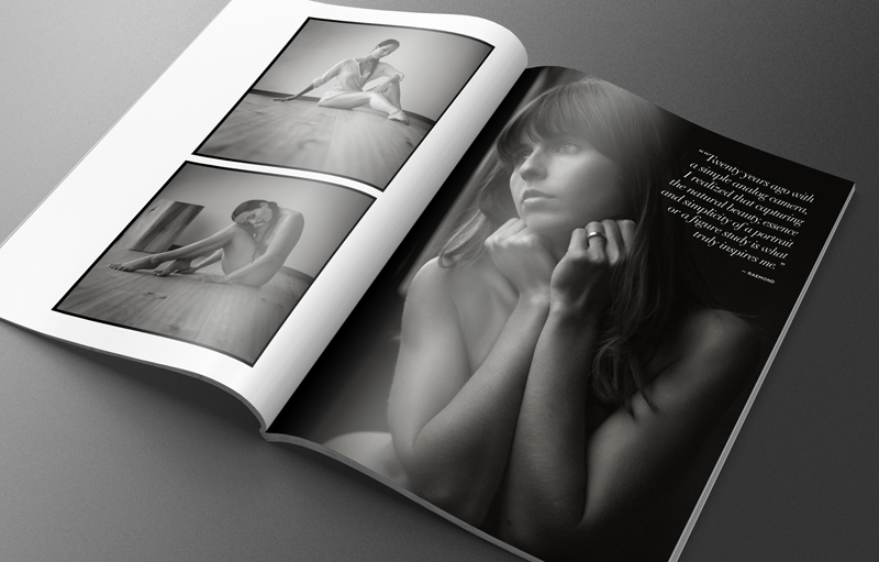 artistic nude models in black and white