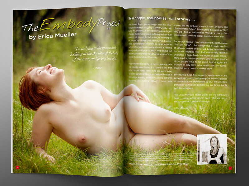 Eric Mueller Embody Project magazine article